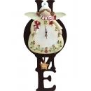 天使女孩掛鐘 y13494 時鐘.溫度計.鏡子 溫度計.壁掛鐘