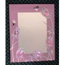 粉色玫瑰鏡 y13560 時鐘.溫度計.鏡子 鏡子