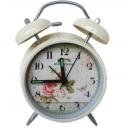 玫瑰鬧鐘(附燈)  y13605 時鐘.溫度計.鏡子 桌鐘  玫瑰鬧鐘(附燈) 另有款式-小熊鬧鐘