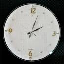 鱷魚皮大圓掛鐘 y13755  時鐘.溫度計.鏡子 溫度計.壁掛鐘 白色鱷魚皮大圓掛鐘