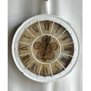 y15715-( 時鐘.溫度計-鏡子-溫度計.壁掛鐘-南法圓心(機械旋轉)