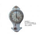y15784 時鐘.溫度計.鏡子 溫度計.壁掛鐘-白色鑲鑽單面鐘-大/另有款式原木色