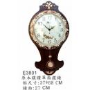 y15785時鐘.溫度計.鏡子 溫度計.壁掛鐘-原木色鑲鑽單面鐘-另有款式白色