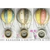 y15786 時鐘.溫度計.鏡子 溫度計.壁掛鐘-熱氣球造型壁鐘(大)-共4款
