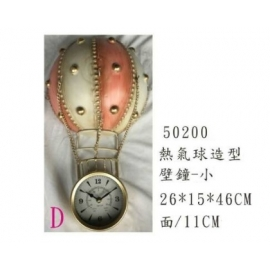 y15787 時鐘.溫度計.鏡子 溫度計.壁掛鐘-熱氣球造型壁鐘(小)-共4款