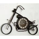 y15905 時鐘.溫度計.鏡子-溫度計.壁掛鐘-摩托車造型鐘