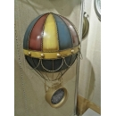 y15907 時鐘.溫度計.鏡子-溫度計.壁掛鐘-熱氣球造型鐘