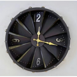 y15908 時鐘.溫度計.鏡子-溫度計.壁掛鐘-造型時鐘