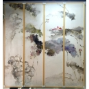 荷花四入一組- y15489 - 畫作系列 - 油畫 - 油畫花系列