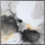 抽象墨韻荷花 y16256 -油畫-油畫花系列/現代創作手繪荷花.抽象畫.客廳裝飾畫.荷氣生財壁畫(可客製尺寸)