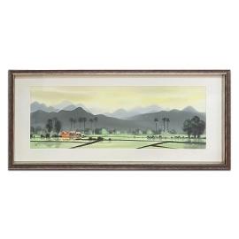 蔡文祥 - 靜謐之美 - y16396 水彩風景畫系列