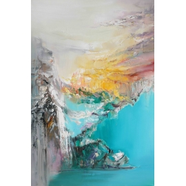 穿越 y16403 - 畫作系列 - 油畫 - 油畫抽象系列/ 創作手繪油畫.客廳.餐廳.臥室.玄關畫