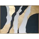 原創-多變-y16408 手工貼金箔+金框-油畫-油畫抽象系列/ 創作手繪油畫.客廳.餐廳.臥室.玄關畫