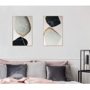 原創-雪幕-y16412 手工貼金箔+金框-油畫-油畫抽象系列/ 創作手繪油畫.客廳.餐廳.臥室.玄關畫
