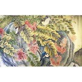 飛鳥 y16455 畫作系列 - 油畫 - 油畫風景/動物系列 玄關.走廊.過道.意境掛畫客廳沙發背景牆.壁畫