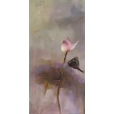 睡蓮 -y16461 油畫-油畫花系列/新中式現代手繪荷花.抽象畫.客廳裝飾畫.荷氣生財壁畫(可客製尺寸)