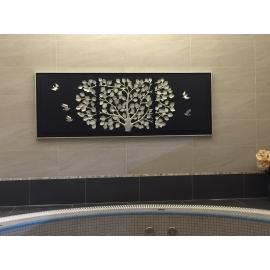 立體浮雕版畫-欣欣向榮-(裝框)-y15470-畫作系列-空間規劃-居家空間