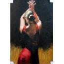 紅衣舞者-y01997-油畫
