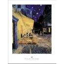 y09486 複製畫 Van Gogh 梵谷-夜晚露天咖啡座(LF35)