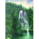瀑布(P1-2-035)-y09624-油畫