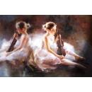 芭蕾舞提琴-y10835-畫作系列-油畫-油畫人物-舞蹈題材