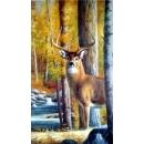 y12377-油畫-動物系列 鹿