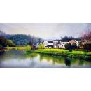 風景鄉村油畫系列-y12813 油畫- 風景鄉村油畫系列 (另有其他尺寸)