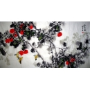 y12821 名家收藏 孟微冬-如意圖 花鳥國畫 柿子