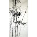 y12836 國畫花鳥-風高亮節 竹子