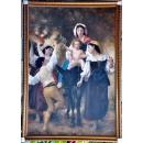 收穫後的歸程Return from the Harvest 臨摹鮑格雷奧Bouguereau-y13422 油畫人物-巨幅油畫
