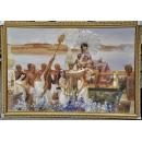 埃及法老公主摩西的發現-y13506 油畫人物