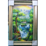 世外桃源(聚寶盆)-可指定尺寸訂製-y13597 油畫- 油畫山水