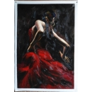 法比安佩雷斯 黑暗中的舞者-y13966 油畫-舞蹈人物系列-舞蹈題材(人物)系列