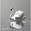 y14027 畫作系列-油畫- 油畫動物系列- 天鵝