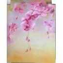 y14157 畫作系列 - 油畫 - 油畫花系列- 蘭花(一) 可訂製