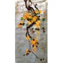 y14210 畫作系列 - 版畫 - 手繪銀箔版畫(花) - 金急雨(Golden Shower Tree) 可訂製尺寸