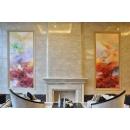 y14289 畫作系列 - 油畫 - 抽象油畫 - 彩虹世界(尺寸可訂製) -訂製商品