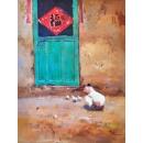 趙虎燮油畫 臨福 (y14725 畫作系列 - 油畫 - 油畫風景) 此作品僅供現場販售