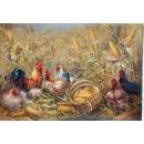 鄭雪香創作作品-大吉圖系列之一A046 -畫作系列-y15192-油畫