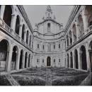 黑白教堂油畫(含框)-y15343-油畫系列