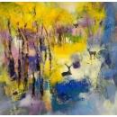 夢的邊界- y15524 - 畫作系列 - 油畫 - 油畫抽象系列