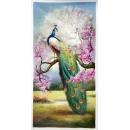 孔雀開屏-y15579- 油畫-油畫動物系列
