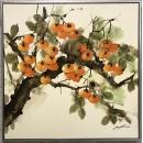 柿柿如意(柿子)-y15589-油畫-油畫靜物