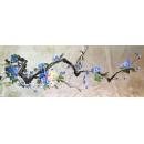 手繪銀箔洋玉蘭喜鵲 - y15606 畫作系列 - 版畫 ( 可訂製尺寸)