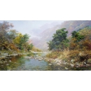 y15681-油畫-油畫風景系列-鄉間溪畔