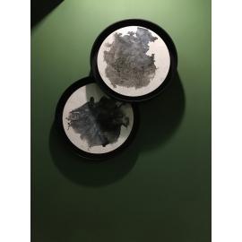 y15728 - 畫作系列 - 油畫 - 油畫抽象系列-圓形造型抽象畫(2入一組)