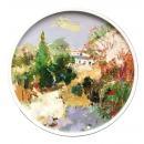 y15955-油畫-油畫風景系列-圓形造型框風景油畫(一)