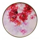 y15957-油畫-油畫花系列-圓形造型框油畫牡丹花(一)