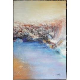 y16007 - 畫作系列 - 油畫 - 油畫抽象系列- 極光系列(手繪)-極光一