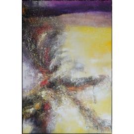 y16008 - 畫作系列 - 油畫 - 油畫抽象系列- 極光系列(手繪)-極光二